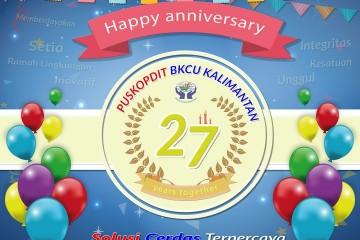 Happy 27th Anniversary Puskopdit BKCU Kalimantan