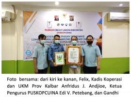 PUSKOPCUINA Menerima Penghargaan dari Gubernur Kalimantan Barat