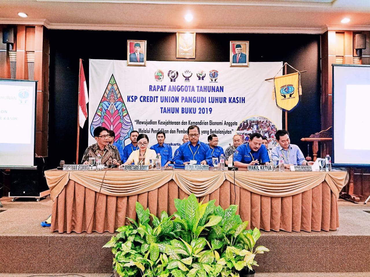 Rapat Anggota  Tahunan KSP CU PL Kasih TB 2019 Surakarta 5 – 6 Maret 2020