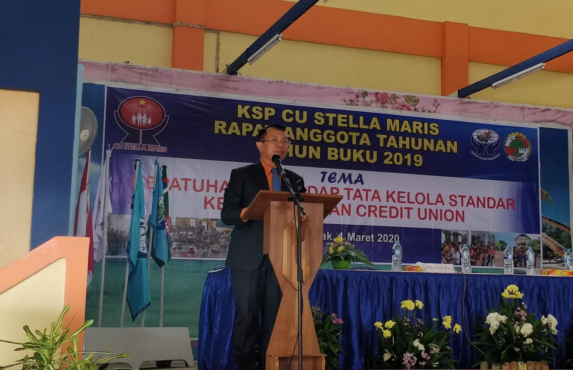 SAMBUTAN PENGURUS BKCU DI RAT CU STELLA MARIS TB 2019