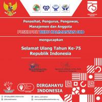 Selamat ulang tahun ke 75 Republik Indonesia